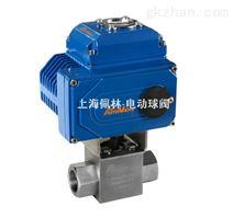500微型电动高压球阀,螺纹电动高压球阀