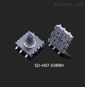 sd-h07-03b-子庚科技高清摄像机数据线六脚贴片10x10五向轻触开关