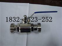 Q21F-10P卫生级外螺纹球阀Φ32(T型圆螺纹)