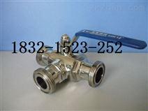 Q24F-10P、Q25F-16P 304SS卫生级三通外螺纹球阀