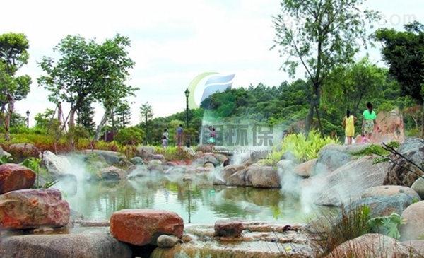 河南高档小区景观造雾技术/别墅私人花园喷雾造景系统