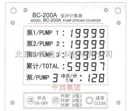 泵冲计数器/防爆/防水 型号:YW55-BC-200A
