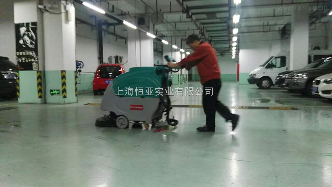 手推电瓶式洗地机KL570B刷地车凯叻洗地机瓷砖地坪洗地