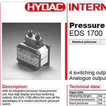 Hydac/賀德克壓力開關EDS 1700希而科