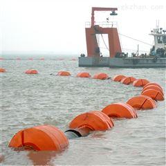 山东清淤管道浮筒 聚乙烯两半片浮体