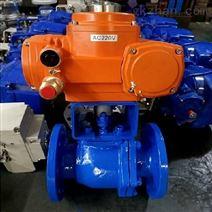三精Q941F-16C低压碳钢法兰电动球阀