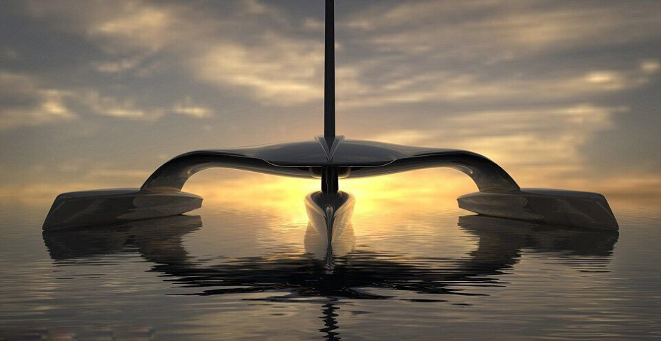 三体船型科幻风!首艘无人驾驶船或2020年服役