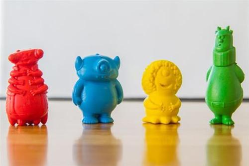 治愈系3D打印怪兽蜡笔问世 将于明年开售