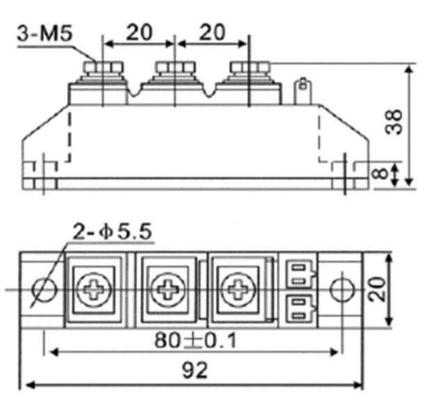 杭州国晶mfc40可控硅整流混合模块