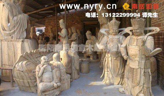 寺庙大型木雕佛像