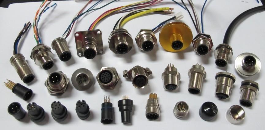 M12插座圆形接插件定做