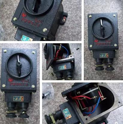 装换开关由隔爆外壳,可逆转换开关,接线柱等零部件组成.