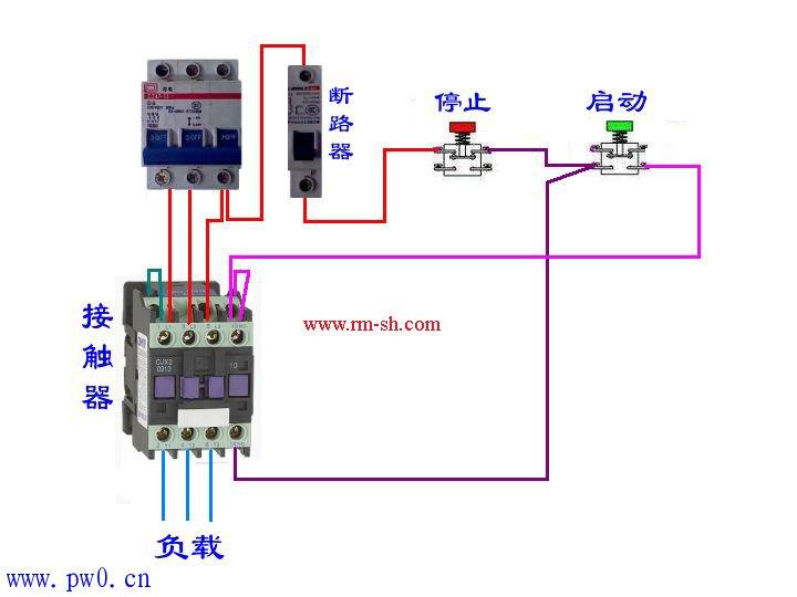 接触器的接线方法与工作原理