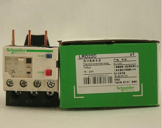 施耐德热过载继电器lrd32c