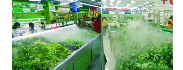 蔬菜保鲜加湿器,超市蔬菜保鲜保湿小妙招!