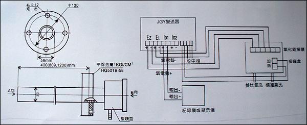 仪器仪表 常用仪表 行业专用仪表 zoy 氧化锆氧量分析仪    安装接线