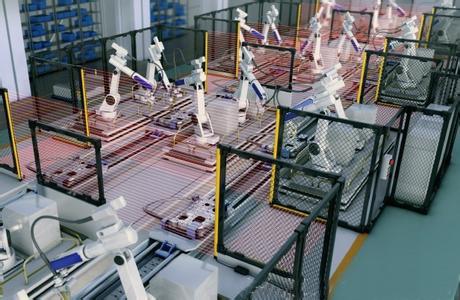 意普自动喷涂定位检测光栅测量光幕厂家直销
