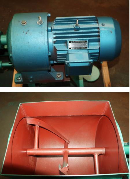工作原理:减速电机通过连轴器使搅拌轴沿一个方向旋转,搅拌轴上的正反