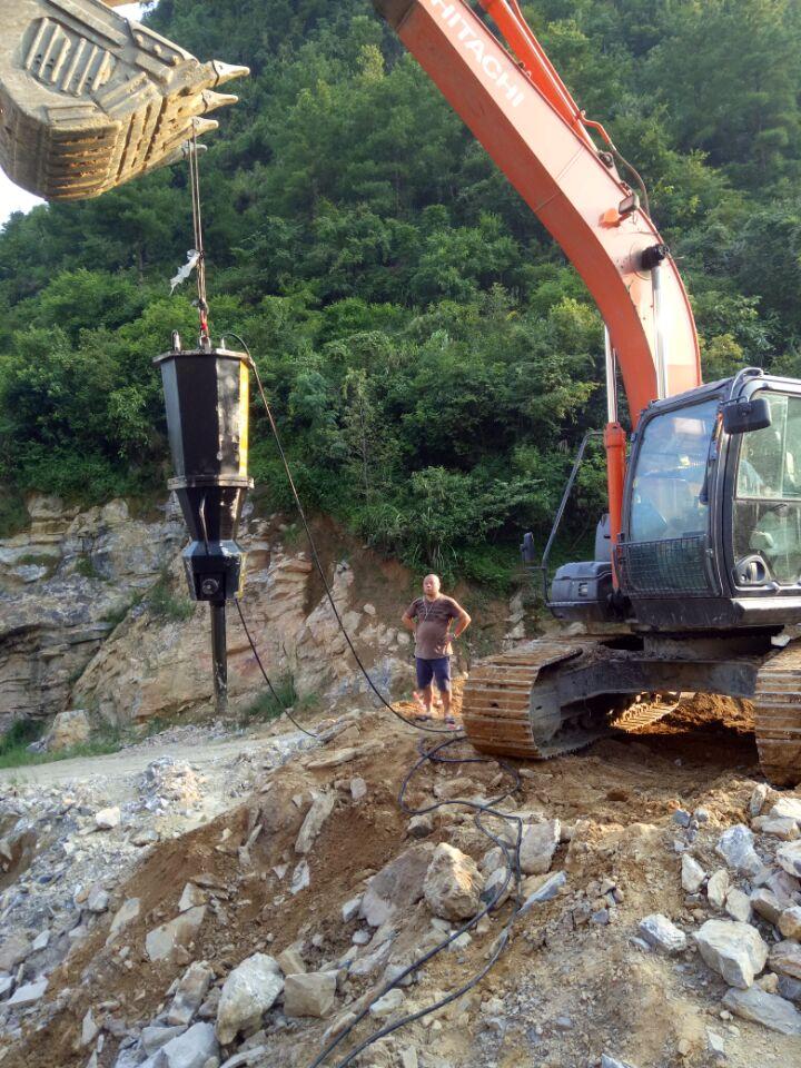 西湖区矿石开采裂石机图片